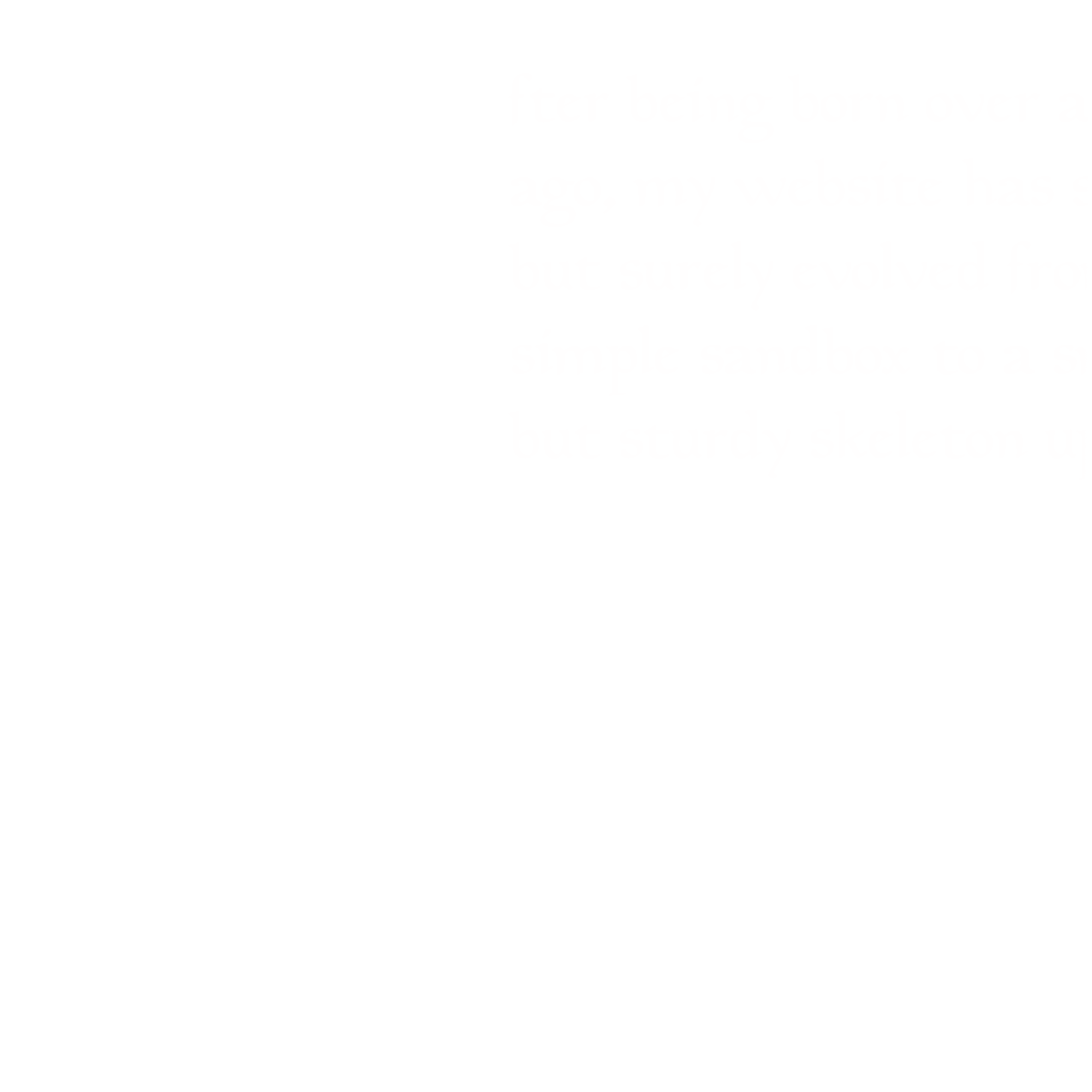 A sketch of the first paragraph of this blog post, rendered with fancy medieval script and an elaborate floral illuminated 'A' at the head of the paragraph.